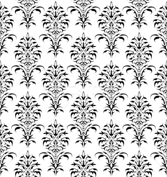 бесшовный цветочный орнамент текстуры белый цветок Сток-фото © Grafistart