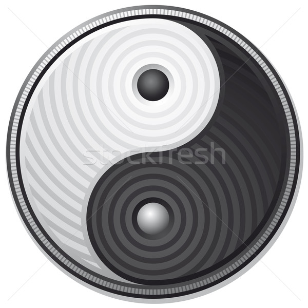 Stock photo: Yin Yang symbol isolated