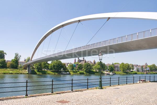 Modern High bridge over the river Meuse Stock photo © Grafistart