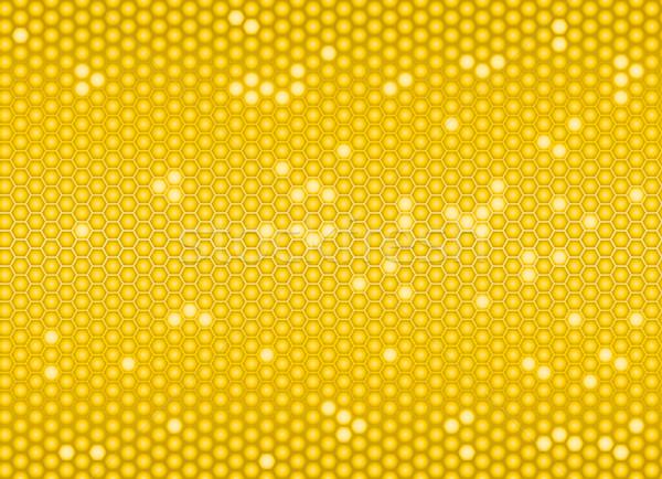 Golden Bienenwabe Gesundheit Hintergrund Netzwerk Stock foto © Grafistart