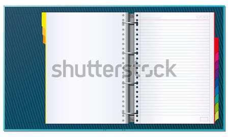 Open office binder Stock photo © Grafistart