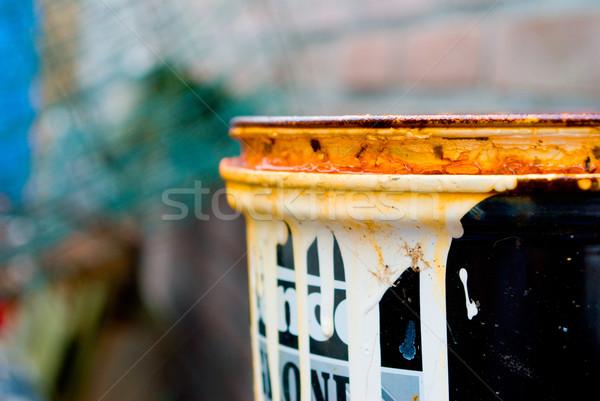 Alten verrostet Metall rot kann Stock foto © Grafistart