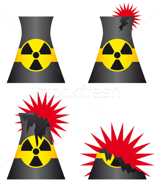 Nuclear power plant meltdown Stock photo © Grafistart