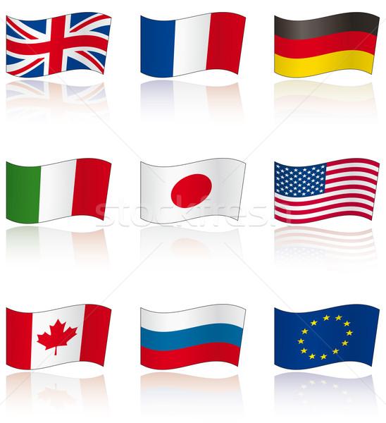Flags of G8 members Stock photo © Grafistart