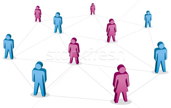 сеть аннотация люди дизайна Сток-фото © Grafistart
