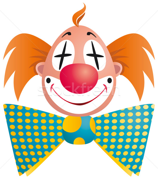 Clown portrait isolé blanche sourire visage Photo stock © Grafistart