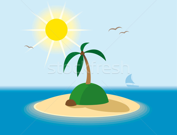 Тропический остров солнце морем лет океана синий Сток-фото © Grafistart