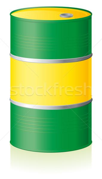 Öl Barrel isoliert weiß Metall Energie Stock foto © Grafistart