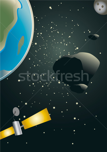 Asteroid heading for earth Stock photo © Grafistart