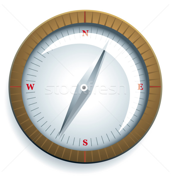 Kompass isoliert weiß Boot Segeln militärischen Stock foto © Grafistart