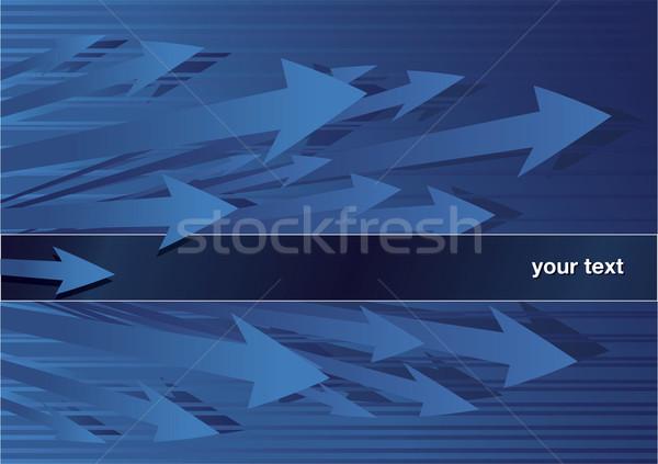 Abstrakten Pfeile Text Bereich blau Hintergrund Stock foto © Grafistart