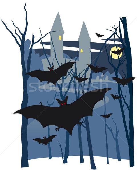 Halloween castle Stock photo © Grafistart