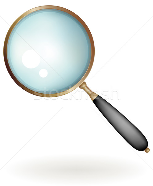 Classic magnifying glass Stock photo © Grafistart