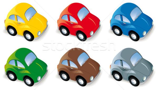 Funny Autos Auto Set sechs unterschiedlich Stock foto © Grafistart
