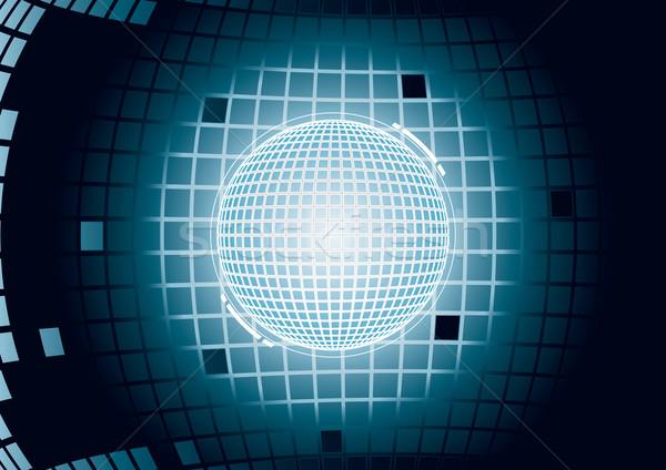 цифровой сфере свет фон черный Сток-фото © Grafistart