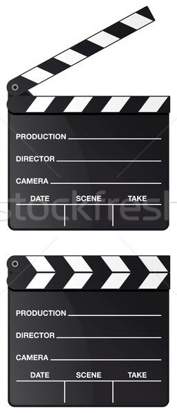 фильма совета набор изолированный белый искусства Сток-фото © Grafistart