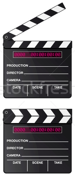 Digital movie clapper board set Stock photo © Grafistart