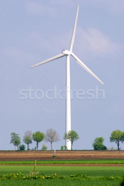 ветровой турбины зеленый пейзаж синий промышленности власти Сток-фото © Grafistart
