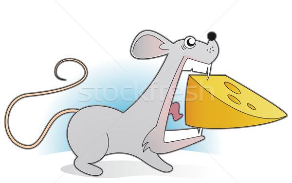 мыши большой кусок сыра продовольствие зубов Сток-фото © Grafistart