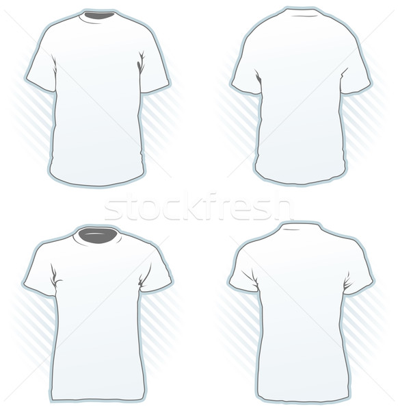 Tricou sablon de design set masculin femeie Imagine de stoc © Grafistart