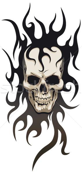 Skull tribal tattoo  Stock photo © Grafistart