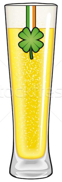 День Святого Патрика пива стекла клевера баннер изолированный Сток-фото © Grafistart