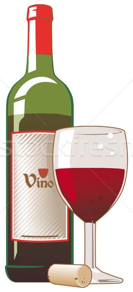 бутылку пробка стекла продовольствие пить Сток-фото © Grafistart