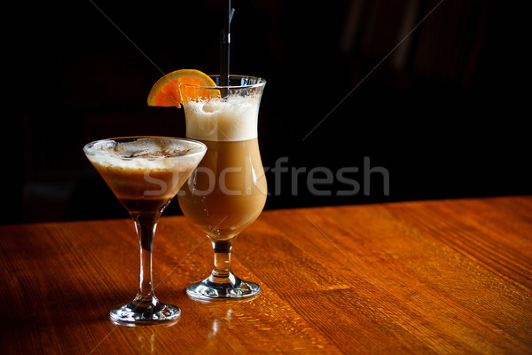 Irish coffee and coffee cocktail Stock photo © grafvision