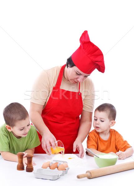 2 子供 母親 準備 クッキー 一緒に ストックフォト © grafvision