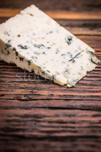 Queijo peça bolor comida azul café da manhã Foto stock © grafvision