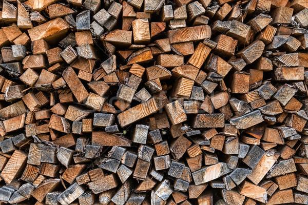 Stok fotoğraf: Yakacak · odun · kuru · kıyılmış · hazır · kış · ağaç