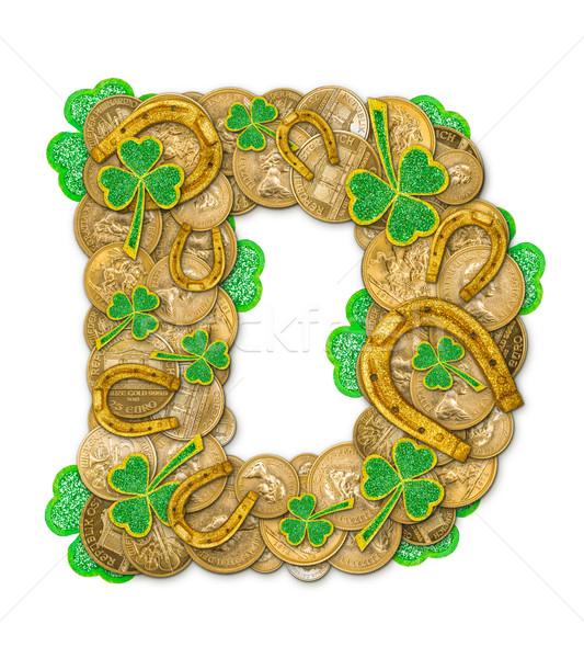 St. Patricks Day holiday letter D Stock photo © grafvision