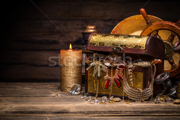 Stock photo: Composition of treasure chest