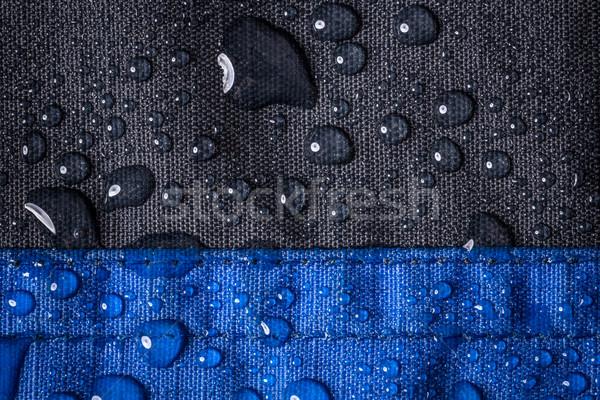 Cseppek vízcseppek víz vízálló ruha textúra Stock fotó © grafvision