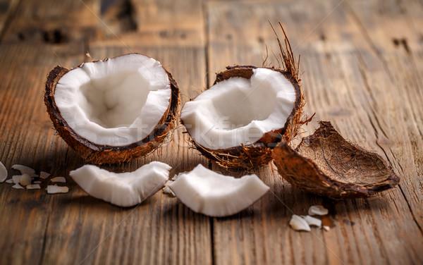 кокосового Cut фон белый Сток-фото © grafvision