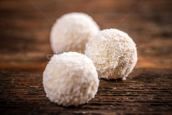 Hindistan cevizi kartopu beyaz dizayn top şeker Stok fotoğraf © grafvision