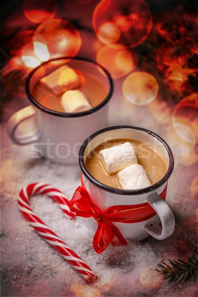 Kakao kış sıcak içecek baharatlı sıcak çikolata Stok fotoğraf © grafvision