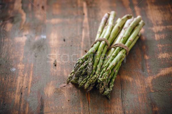 свежие зеленый спаржа деревенский здоровья Сток-фото © grafvision