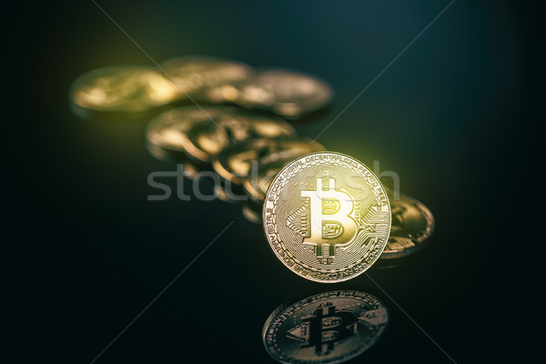 Virtual cryptocurrency concept. Stock photo © grafvision