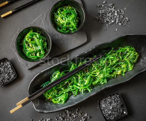 Wodorost Sałatka górę widoku japońskie jedzenie żywności Zdjęcia stock © grafvision