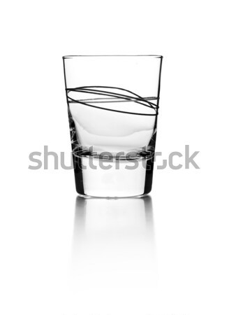 Empty glass for whiskey Stock photo © grafvision