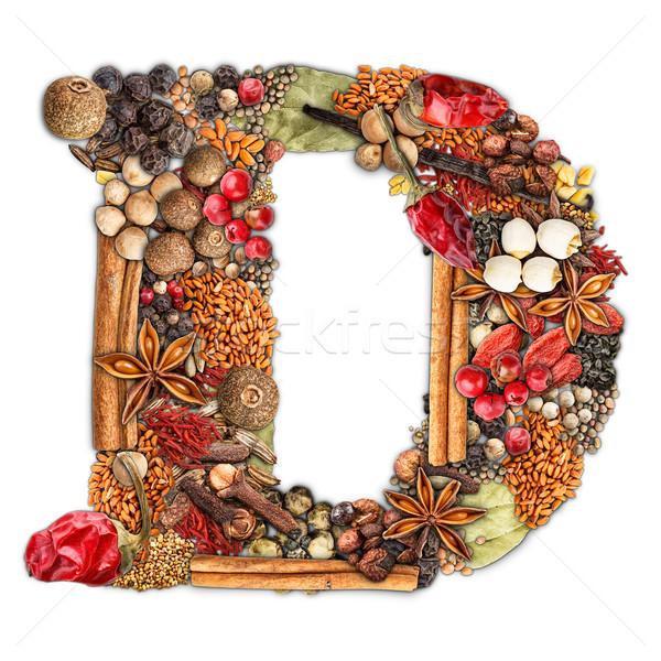 Spices letter Stock photo © grafvision