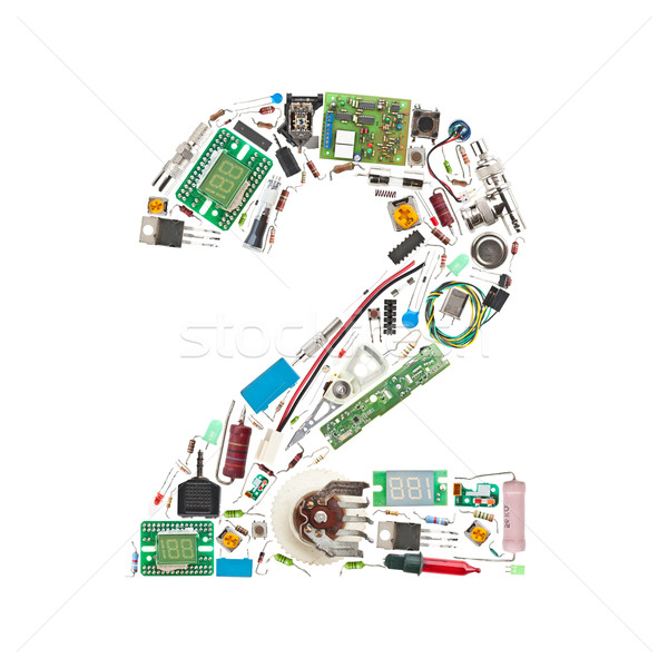 Number '2' made of electronic components Stock photo © grafvision