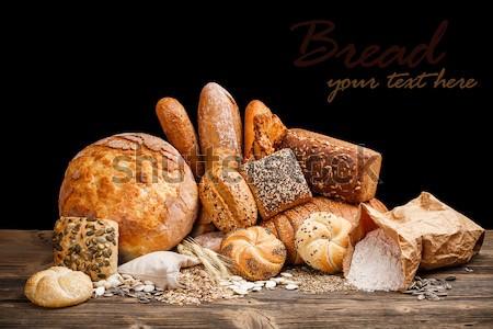 Brun canne sucre bol bois bord Photo stock © grafvision