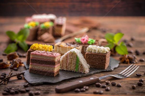 декоративный мини party time продовольствие торт Сток-фото © grafvision