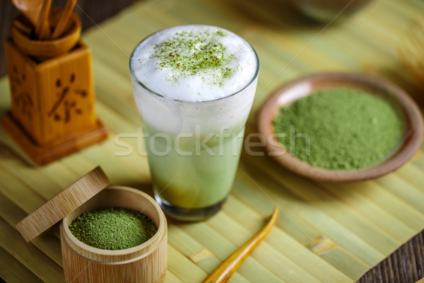 зеленый чай стекла Кубок зеленый пить чай Сток-фото © grafvision