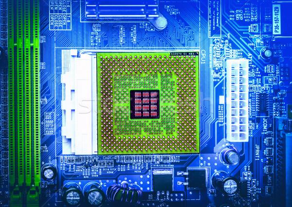 コンピュータ マザーボード 電気 コンポーネント ショット ストックフォト © grafvision