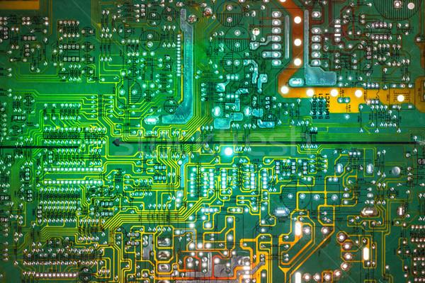 Elettronica circuito elementi computer sfondo Foto d'archivio © grafvision
