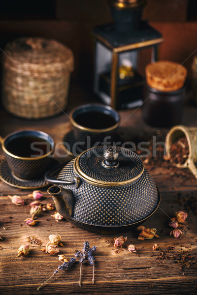 Still life of asian tea set Stock photo © grafvision