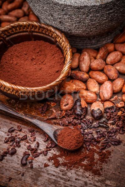 какао бобов землю здорового Сток-фото © grafvision